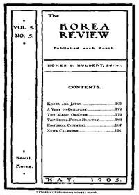 The Korea Review, Vol. 5 No. 5, May 1905