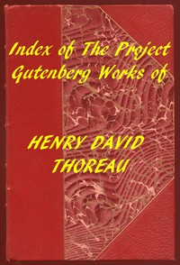 Cover of Index of the Project Gutenberg Works of Henry David Thoreau