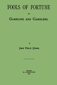 Cover of Fools of Fortune; or, Gambling and Gamblers
