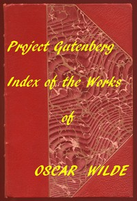 Cover of Index of the Project Gutenberg Works of Oscar Wilde