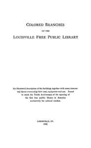 Colored Branches of the Louisville Free Public Library