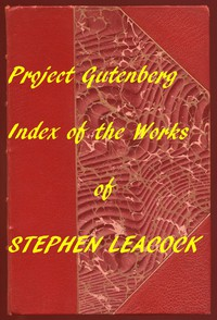 Cover of Index of the Project Gutenberg Works of Stephen Leacock