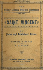 Cover of Saint Vincent, with notes and publishers' prices