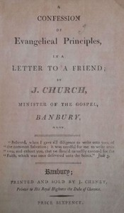 A Confession of Evangelical Principlesin a letter to a friend