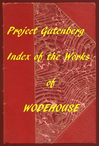 Cover of Index of the Project Gutenberg Works of Pelham Grenville Wodehouse