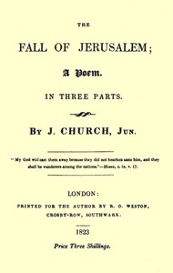 Cover of The Fall of Jerusalem: A Poem