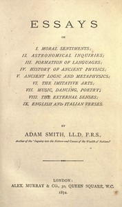 The Essays of Adam Smith