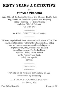 Cover of Fifty Years a Detective: 35 Real Detective Stories