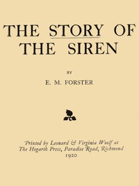 Cover of The Story of the Siren