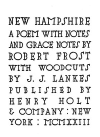 New Hampshire, A Poem; with Notes and Grace Notes