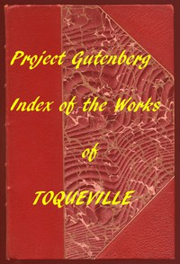 Cover of Index of the Project Gutenberg Works of Alexis de Tocqueville