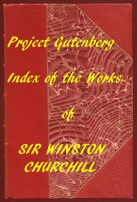 Cover of Index of the Project Gutenberg Works of Sir Winston Spencer Churchill