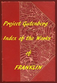 Cover of Index of the Project Gutenberg Works of Benjamin Franklin
