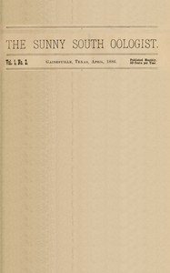 The Sunny South Oölogist. Vol. 1, No. 2