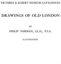 Cover of Drawings of Old London