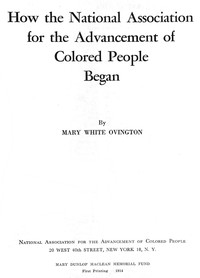 Cover of How the National Association for the Advancement of Colored People Began