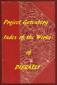 Cover of Index of the Project Gutenberg Works of Benjamin Disraeli