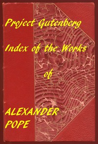 Cover of Index of the Project Gutenberg Works of Alexander Pope