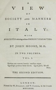 A View of Society and Manners in Italy, Volume 1 (of 2) With Anecdotes Relating to some Eminent Characters