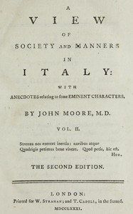 Cover of A View of Society and Manners in Italy, Volume 2 (of 2) With Anecdotes Relating to some Eminent Characters