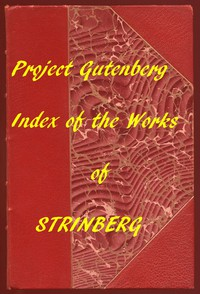 Cover of Index of the Project Gutenberg Works of August Strindberg