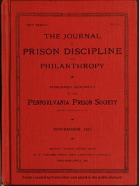 Cover of The Journal of Prison Discipline and Philanthropy (New Series, No. 50) November 1911