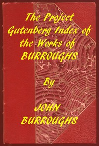 Cover of Index of the Project Gutenberg Works of John Burroughs