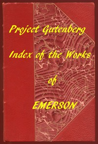 Cover of Index of the Project Gutenberg Works of Ralph Waldo Emerson