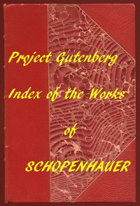 Cover of Index of the Project Gutenberg Works of Arthur Schopenhauer