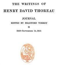 Cover of Journal 02, 1850-September 15, 1851 The Writings of Henry David Thoreau, Volume 08 (of 20)