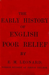 Cover of The Early History of English Poor Relief