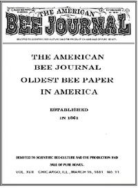 The American Bee Journal. Volume XVII No. 11, March 1881