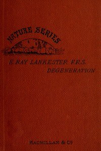 Cover of Degeneration: A Chapter in Darwinism