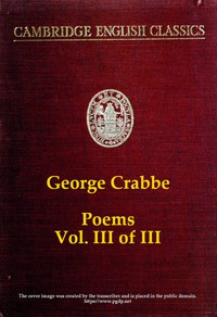 Cover of George Crabbe: Poems, Volume 3 (of 3)