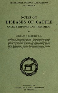 Cover of Notes on Diseases of Cattle: Cause, Symptoms and Treatment