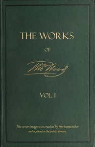 Cover of The Works of Thomas Hood; Vol. 01 (of 11) Comic and Serious, in Prose and Verse, With All the Original Illustrations