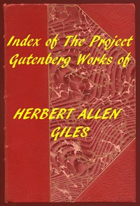 Cover of Index of the Project Gutenberg Works of Herbert Allen Giles