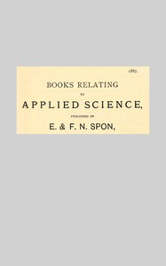 Cover of Books Relating to Applied Science, Published by E & F. N. Spon, 1887.