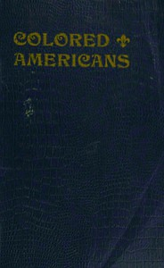 Cover of Colored Americans in the Wars of 1776 and 1812