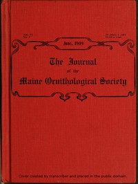 Cover of The Journal of the Maine Ornithological Society, Vol. XI. No. 2