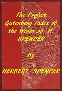 Cover of Index of the Project Gutenberg Works of Herbert Spencer