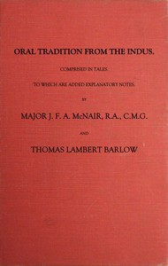 Cover of Oral Tradition from the Indus Comprised in Tales to Which Are Added Explanatory Notes