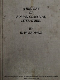 Cover of A History of Roman Classical Literature.
