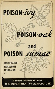 Cover of Poison-ivy, Poison-oak and Poison Sumac: Identification, Precautions and Eradication