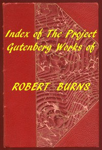 Cover of Index of the Project Gutenberg Works of Robert Burns