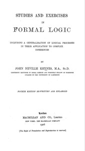 Cover of Studies and Exercises in Formal Logic