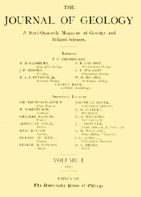 The Journal of Geology, January-February 1893A Semi-Quarterly Magazine of Geology and Related Sciences