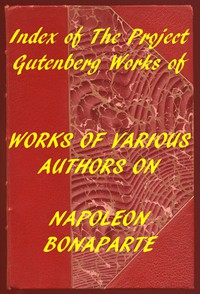 Cover of Index of the Project Gutenberg Works of Various Authors on Napoleon Bonaparte