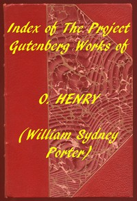 Cover of Index of the Project Gutenberg Works of O. Henry