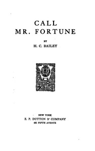 Cover of Call Mr. Fortune
